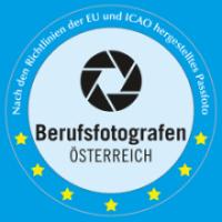 Das Siegel zur Herstellung EU konformer Reisepassbilder und Führerscheinfotos - Passfoto | Wels das Fotostudio im Herzen OÖ