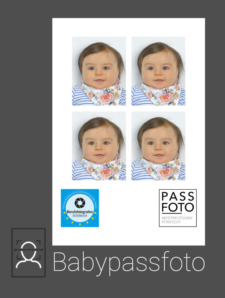 Baby Passfoto für Reisepass seit 15. Juni 2012 nötig.